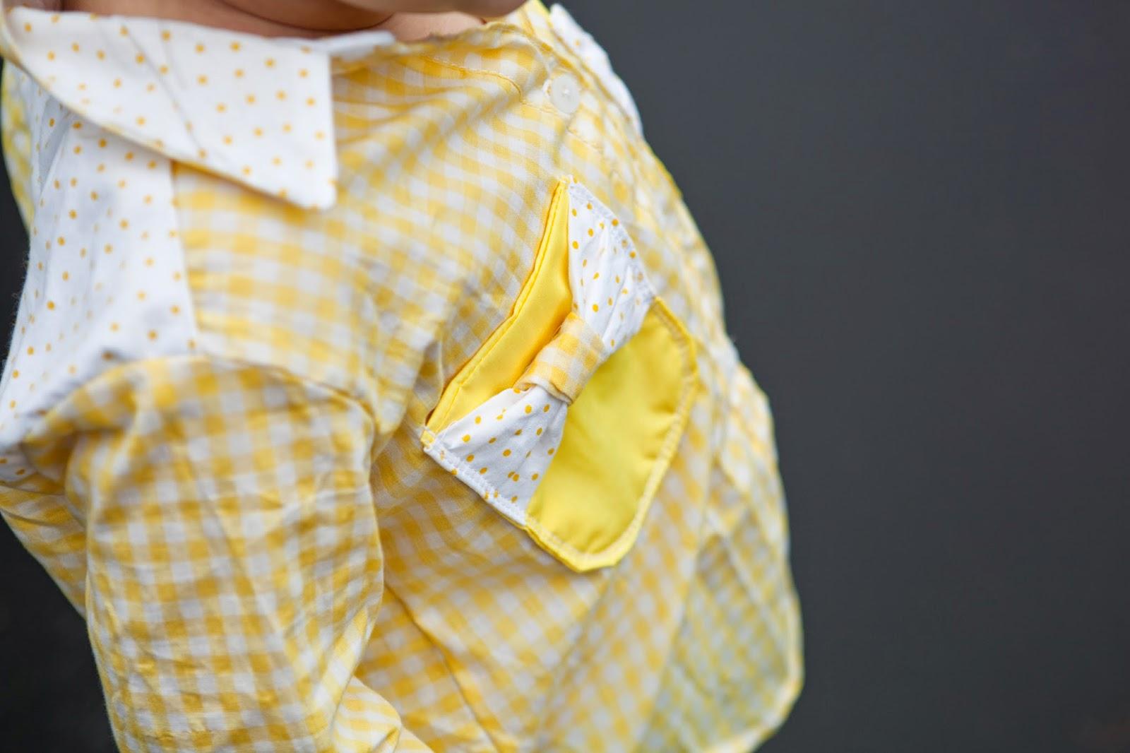 Bookworm Button Up pattern by Blank Slate Patterns sewn by Winter Wear Designs