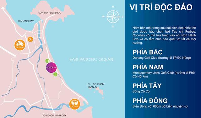 Vị trí siêu dự án Cocobay Đà Nẵng