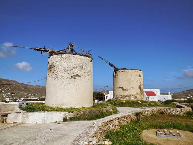 18wieczne wiatraki Mykonos, Ano Mera Grecja