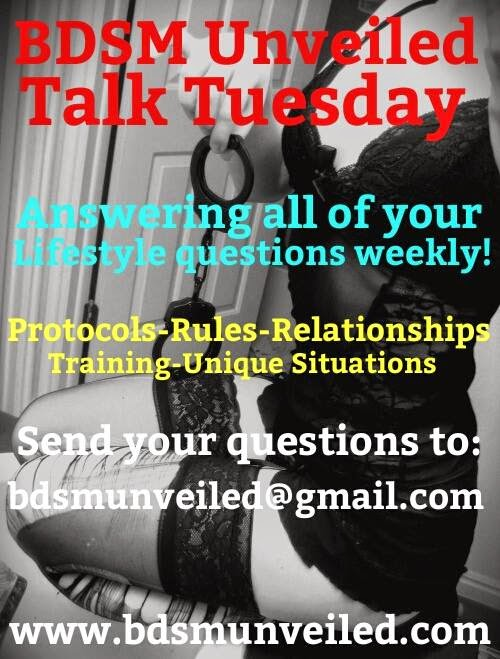 BDSM Unveiled Relationships Talk Tuesday 3 February 2015