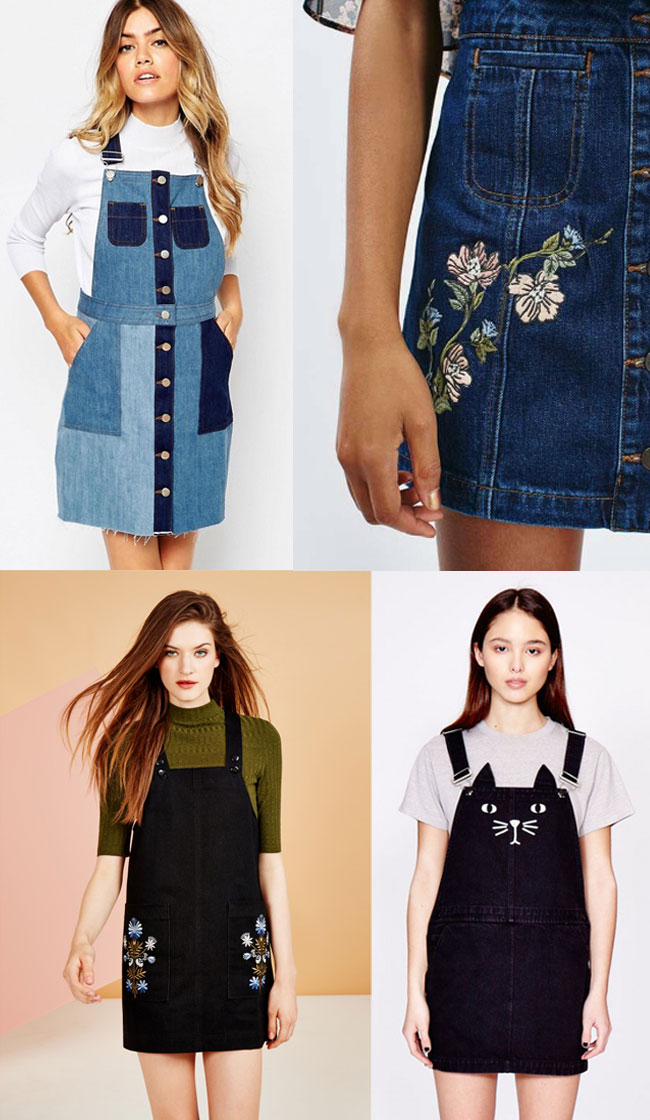 Inspiration for making the Cleo dungaree dress - Tilly and the Buttons