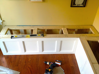 installing benches in kitchen