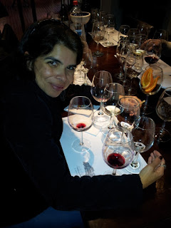 fazendo curso de vinho na vinícola Casas del Bosque