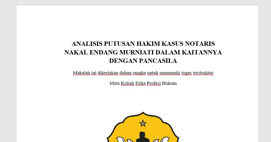 Syafi U Nizar Makalah Etika Profesi Hukum