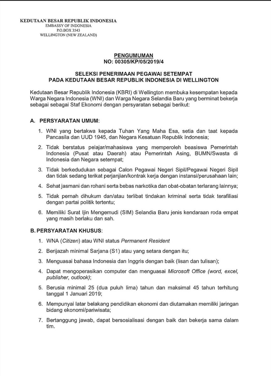 Penerimaan Kedutaan Besar Republik Indonesia Mei 2019