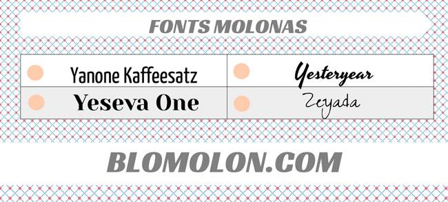 fonts molonas 19