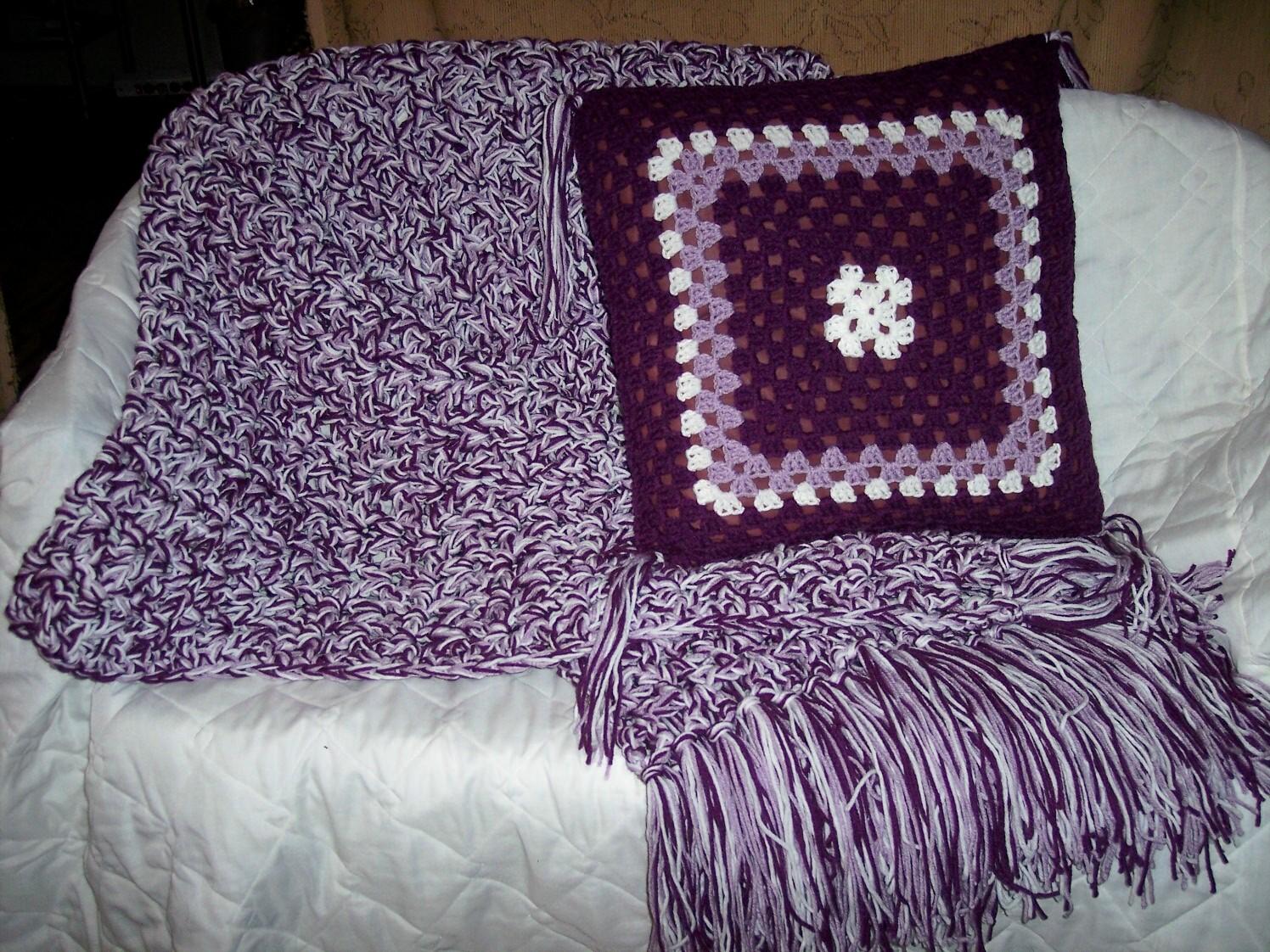 Ann S Diy Crafts Decorations Amp Yarn Works Purple Bed