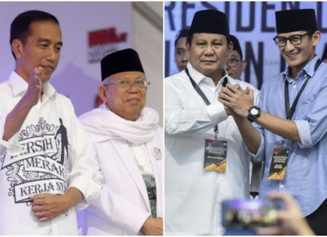 Survei Internal, Elektabilitas Prabowo-Sandi Kejar Jokowi-Ma'ruf