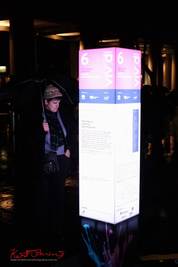Reading the light box description #6 Vivid Sydney 2013.