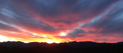 posta de sol, Matarraña, Matarranya, sunset, Sonne Untergang