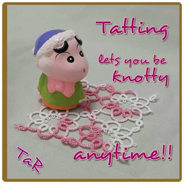 Tatting lets you be knotty