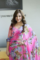Actress Angela Krislinzki in Pink Saree Blouse Exclusive Pics March 2017 ~  110.JPG