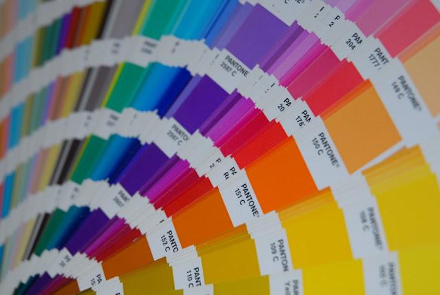 cartela paleta pantone significado cores varejo projeto arquitetura