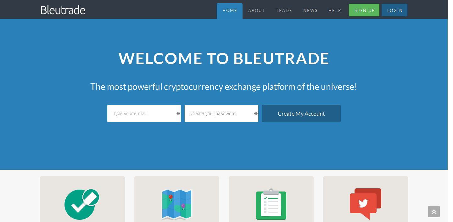 Chatting di bayar hanya di Bleutrade Exchanger