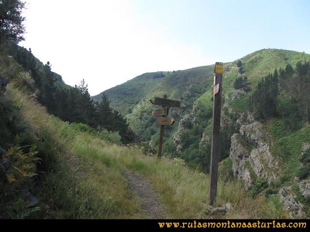 Ruta Hoces del Esva: Cruce PR AS-1 y PR AS-2 del Cabanón