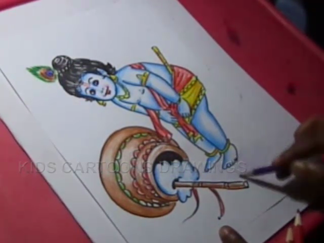 Kids Cartoon Drawings How To Draw Little Krishna Drawing