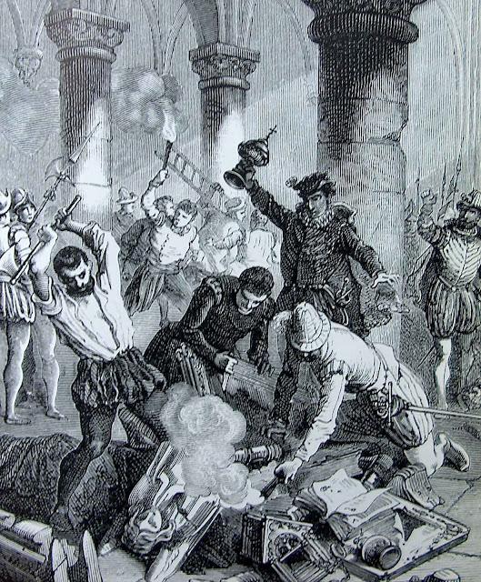 Protestantes destroem e profanam igreja católica
