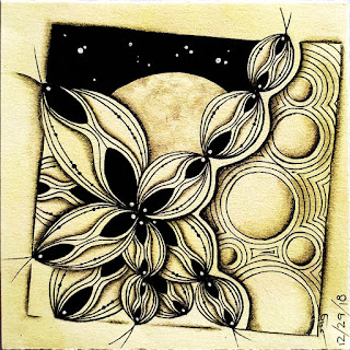 #@Fullmoonmosaic at Instagram, Dec fullmoon with Sistar and Fullmoon tangles