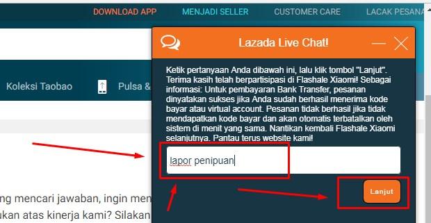 Customer Service Lazada Via Live Chatting Terbaru 2019 ii