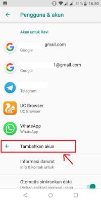 Cara Menambahkan Akun Google Pada Asus Zenfone Max Pro M1