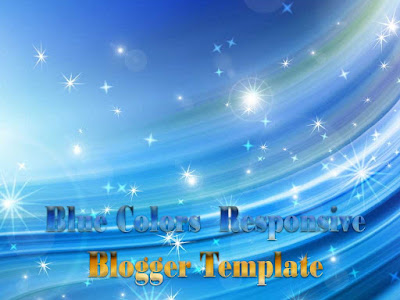 Blue Colours Responsive Blogger Templates