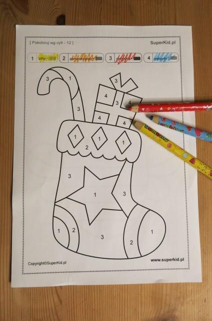 Malowanie Wg Symboli I Liczb Setki Kolorowanek Na Wwwsuperkidpl