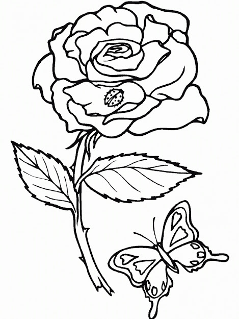 Rose Coloring Pages Printable