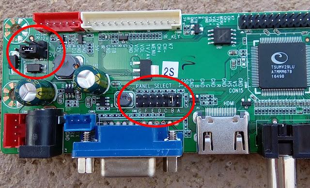 Jumpers de configuração da placa HDVX9-AS