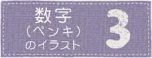ペンキ文字(数字)