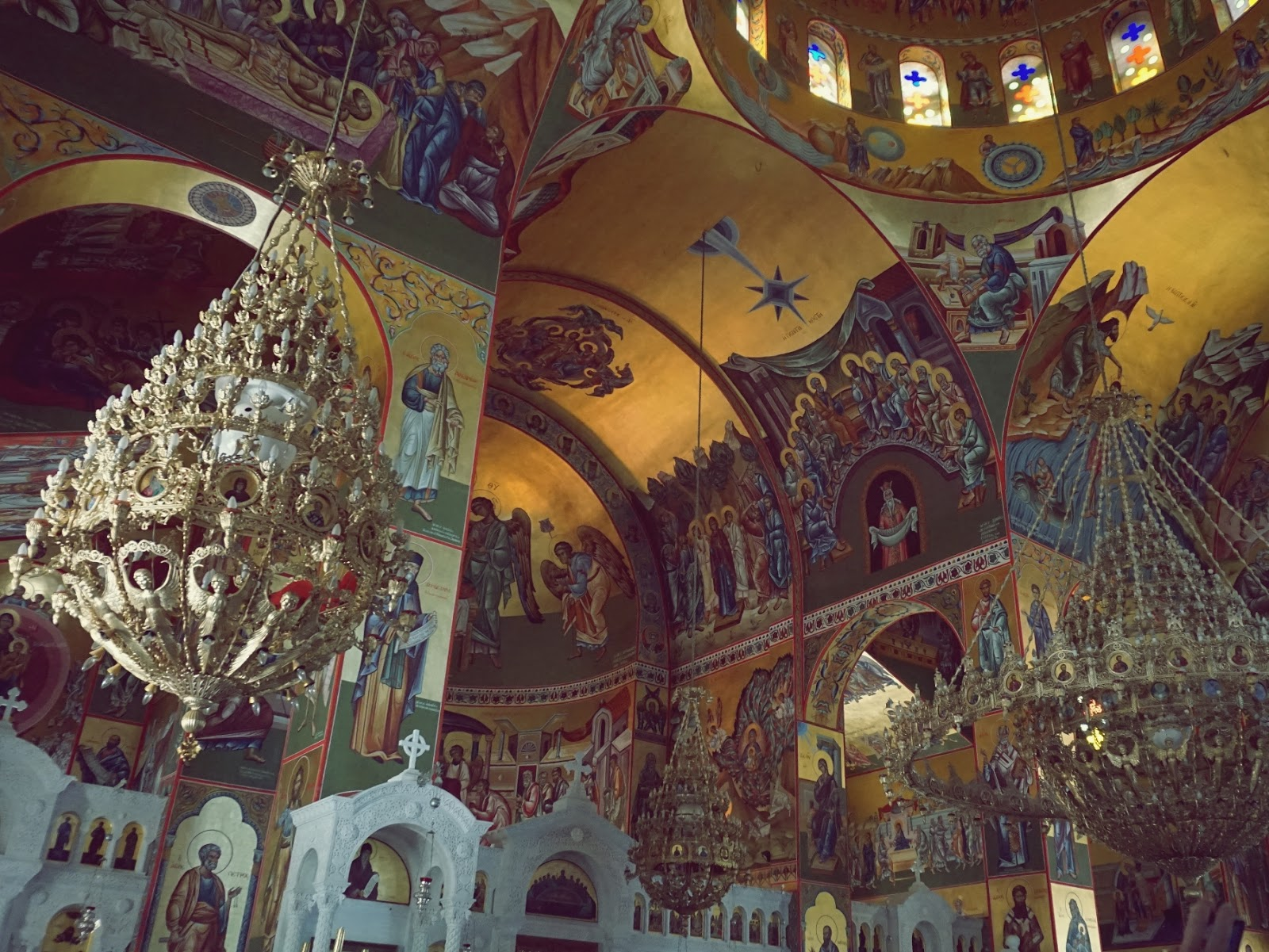 Wnętrze Monastyru Św. Gerasimosa, monastyr, cerkiew, Grecja, Kefalonia