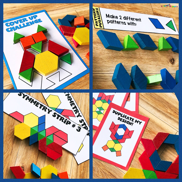 Pattern blocks are perfect to practice math skills like symmetry, patterning, geometry and spatial awareness