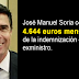 José Manuel Soria cobra los 4.644 euros mensuales de la indemnización de exministro