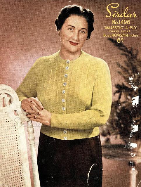 A Ladies Jumper Sirdar No. 1496 Free knitting Pattern