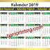 Kalender 2019 Lengkap Hijriyah dan Tanggalan Jawa Vector