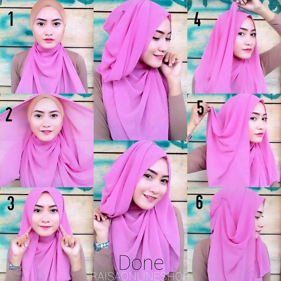 Tutorial Hijab Layer Samping Untuk Ke Kantor Dan Kampus Kumpulan