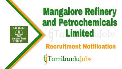 MRPL Recruitment notification 2019, govt jobs for engineers, govt jobs for diploma, govt jobs in tamil nadu, central govt jobs