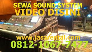 Harga sewa sound system untuk konser
