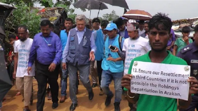 PBB mengunjungi kamp pengungsian
