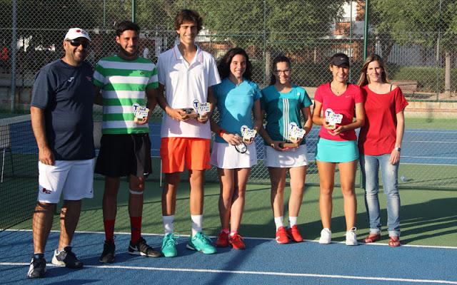 Cuadro de ganadores en el  Toledo Tenis Tour   IMAGEN ILLESCAS COMUNICACIÓN