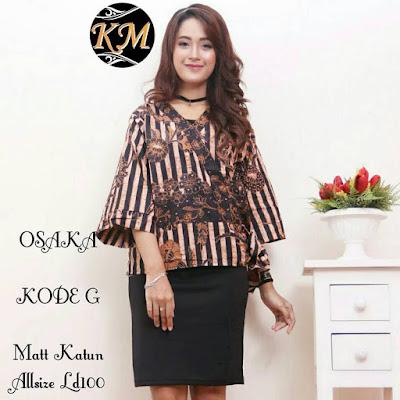 BLUS Batik KIMONO OSAKA kode G