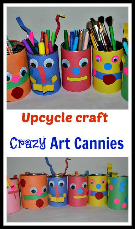 crazy arts and crafts ideas up cycle craft cannies putti s world 6407