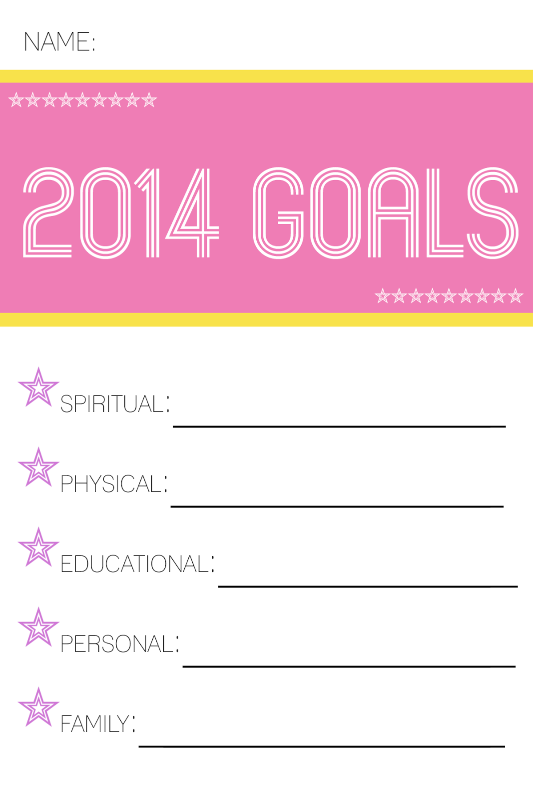 New Years Goals And Organization