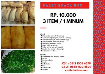 harga snack  box murah di Pamulang