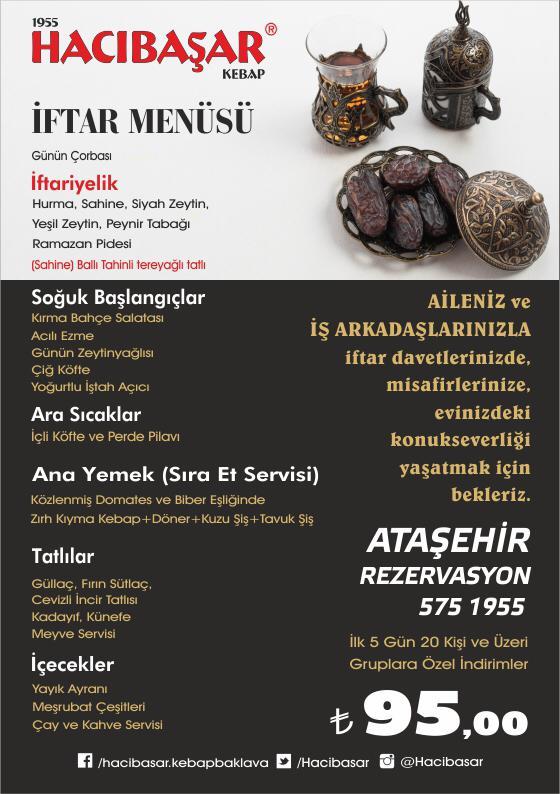 hacıbaşar iftar mensüsü hacıbaşar kebap ataşehir hacıbaşar iftar menüsü 2019 iftar menüleri fiyatları