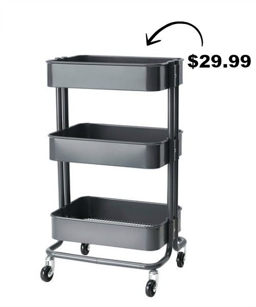 Gray IKEA Raskog Cart