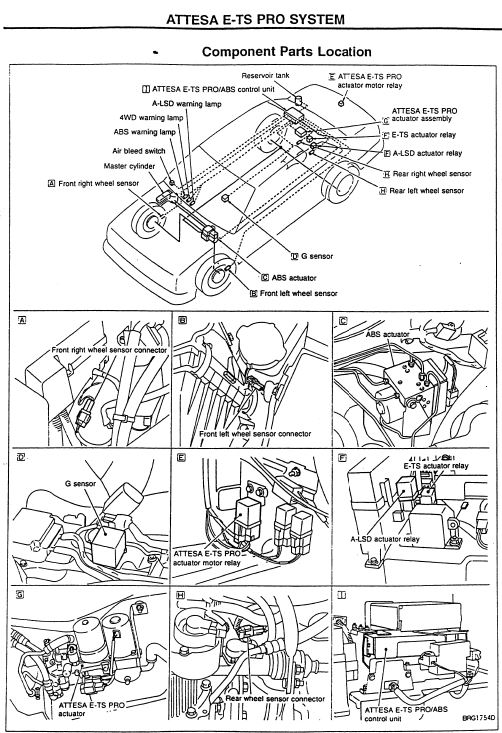 R34 GT-R ATTESA ETS-Pro Circuit Diagram and Component