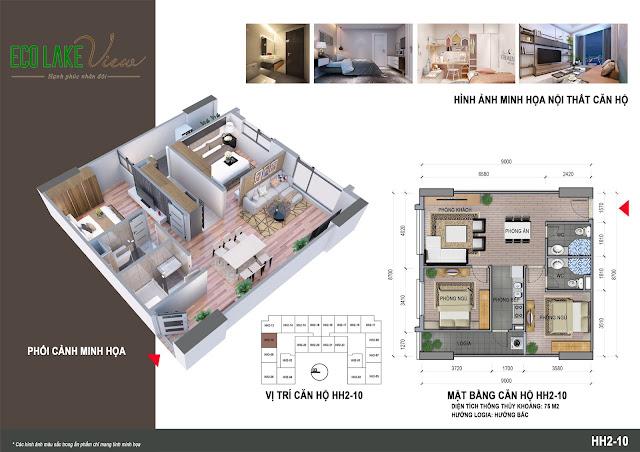 Thiết kế căn hộ 10 tòa HH-02 Eco Lake View