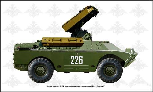 Боевая машина 9А31 зенитного ракетного комплекса 9К31 «СТРЕЛА-1»