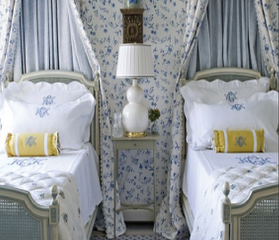 Look At These Charming Monogrammed Pillows In Her Blog Header