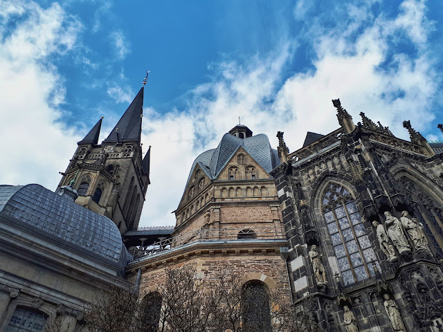 Aachen Cathedral aka Dom in the heart of the old town